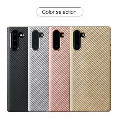 For Samsung Galaxy Note 10 Plus Luxury Slim Carbon Fiber Soft Back Case Cover