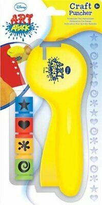 Disney Art Attack Craft Puncher Hand Paper Punch Hole Card Making Kids Gift