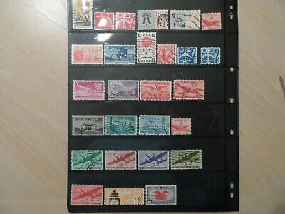 Lot Of 27 Different Used United States Airmails #C19//C84