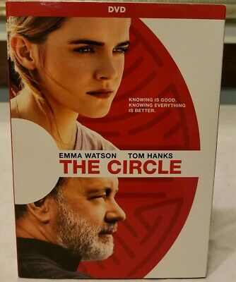 The Circle Tom Hanks Blu-Ray + Dvd + Digital New With Slip Cover