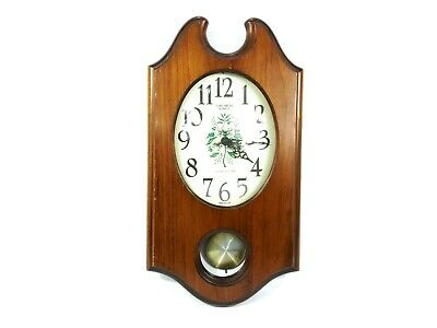 Made in the U.S.A Verichron Quartz Wall Clock With Westminster Chime Oak Wood