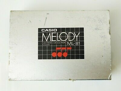 NOS Vintage Casio ml-81 melody electronic calculator and dual alarm clock JPN