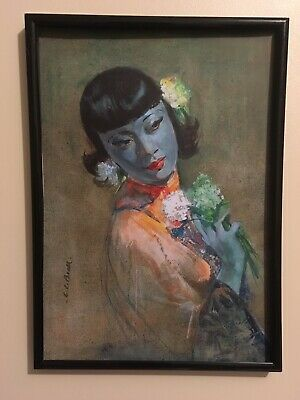 The Fan By Cecil Bea From The Tretchikoff Era A4 260gsm Framed Poster Print