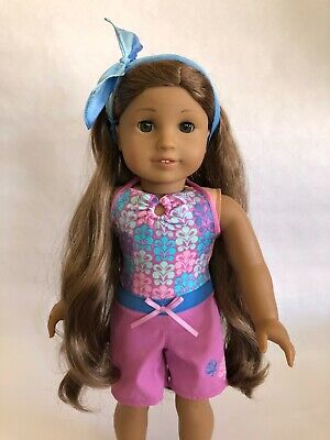 American Girl COCONUT FUN OUTFIT dog pet tee shorts leggings shoes NO DOLL