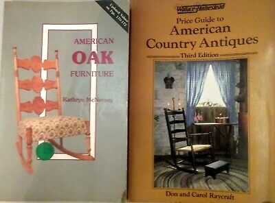 2 Books On American Antiques Furniture and Collectables Guides Prices MK8