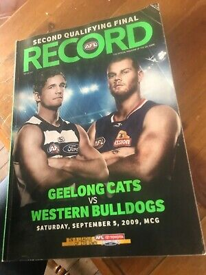 2009 AFL 2 nd Qualifying Final Football Record - Geelong v Western Bulldogs