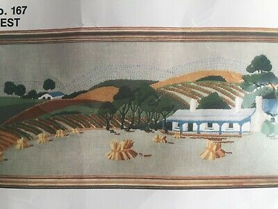 Harvest ~ Vintage Crewel Embroidery KIT by SEMCO - NEW