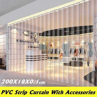 6pcs 79''X7'' Freezer Room PVC Plastic Strip Curtain Door Strip Kit Hanging