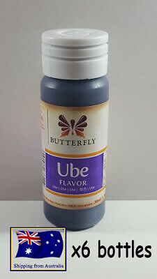 6x Butterfly ube Essence 30ml Food Flavouring Coloring Baking Beverages