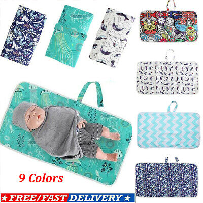 AU Newborn Baby Foldable Washable Travel Nappy Diaper Play Portable Changing Mat