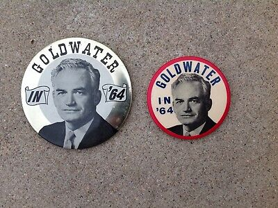 (2) - Goldwater In 1964 Campaign Buttons