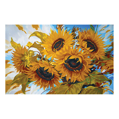 COLLECTION D'ART | Printed Canvas: Windswept Sunflowers |CD12970