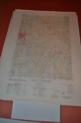 1940's Army topographic map Gardner Massachusetts -Sheet 6669 III SW