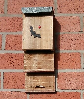 Batbox Nesting Roosting House, Twin Entrance With A Chamber Hole Inside  ^●^ ^●^