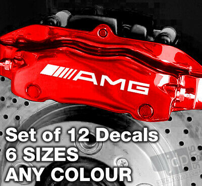 MERCEDES AMG Quality Brake Caliper Decals Stickers - 12 SIZES - ANY COLOUR