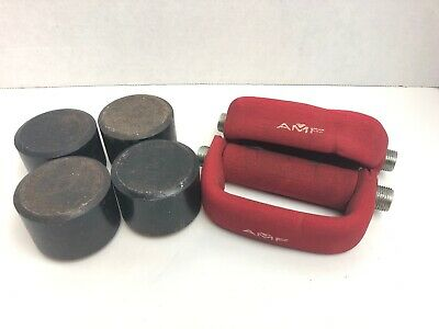 Heavy Hands Heavyhands Red Handles 1lb Aerobic Walking Dumbbells Free Shipping