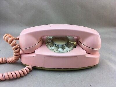 Vintage Bell Systems Pink PRINCESS Lighted Rotary Dial Telephone