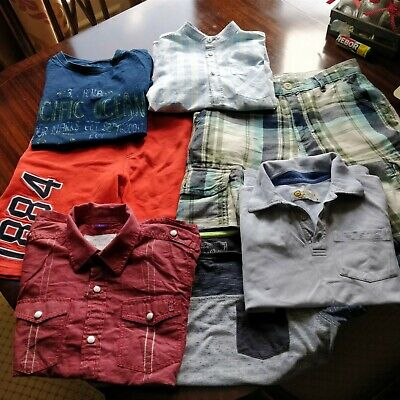 Boys Bundle shorts t shirts size 8/9 yrs fat Face ted baker next river island
