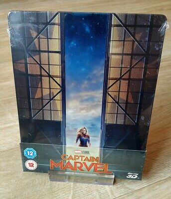 Captain Marvel Blu-ray Steelbook UK Zavvi Exclusive 2D/3D New Sealed DEU TON