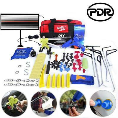PDR Rods Set Paintless Dent Removal Line Board Lifter Pump Wedge Hail Repair Kit