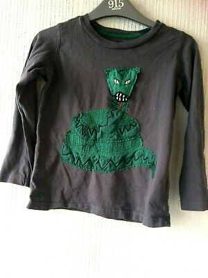 Joules Boys Long Sleeved Grey Alligator Top T-shirt 5-6  Years