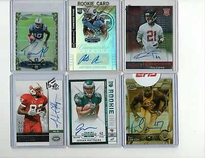 Huge 53 Ct. Football Autographed  Investment Wholesale Lot Patches/Low #d!!