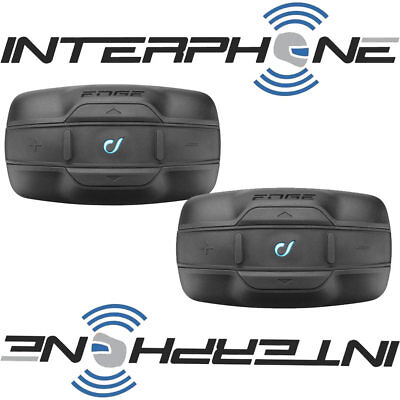 Interphone Edge Twin Pack Motorcycle Bluetooth Intercom Headset