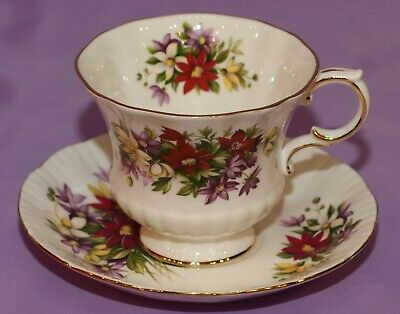 Paragon Flower Festival English Fine Bone China Tea Cup & Teacup And Saucer Duo