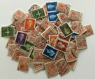Mixed Job Lot of - Netherlands - Old Used Postage Stamps - Off Paper - Stamps -
