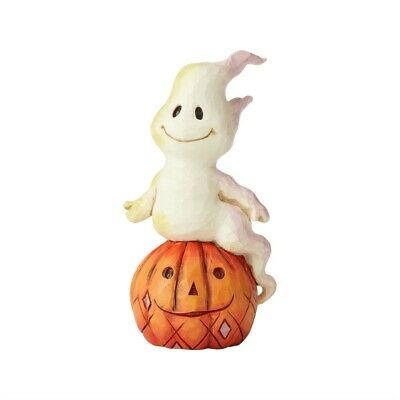 Heartwood Creek Mini Ghost and Pumpkin Figurine by Jim Shore, New/Box, 6004329
