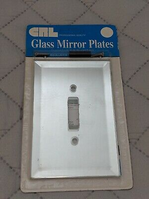 Beveled Mirror Glass Single Toggle Light Switch Cover Plate