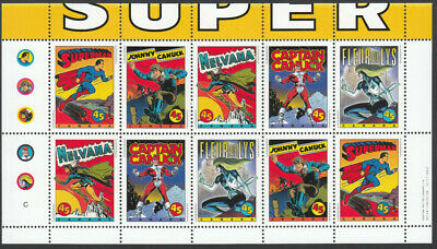 NEVER FOLDED = COMIC BOOK SUPERHEROES = QP Booklet pane Canada 1995 #1583bi MNH
