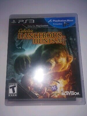 Cabela's Dangerous Hunts 2011 Sony PlayStation 3 2010 PS3 Game COMPLETE