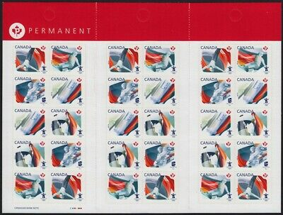 fq. BKLT of 30 = VANCOUVER WINTER OLYMPIC GAMES = Canada 2009 #2304b MNH
