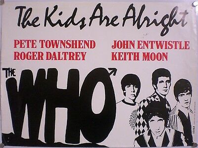 The Who – Affiche Originale – The Kids Are Alright- Tres Rare – France - 1979