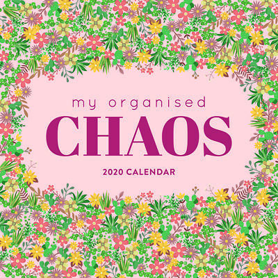 2020 My Organised Chaos Planner Square Wall Calendar by Paper Pocket 17167