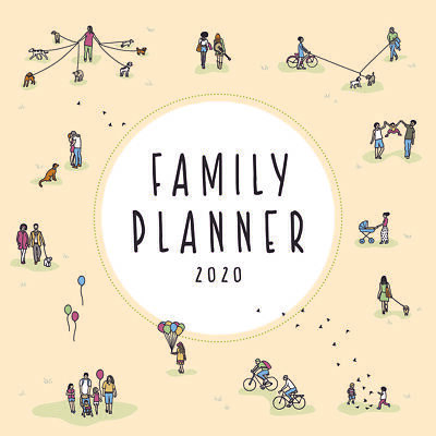 2020 Family Planner Square Wall Calendar by Paper Pocket 17164