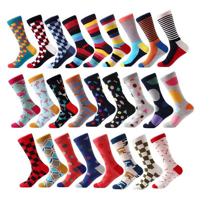 Mens Socks Striped Business Party Dress Cotton comfortable knee high Socks