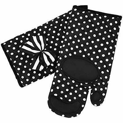 Oven Mitts Gloves - Extra Long Heat Resistant Up To 482&degF For Cooking, 1 Pair