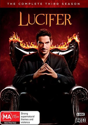 Lucifer : Season 3 (DVD, 5-Disc Set) NEW