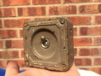 Crabtree Vintage Cast Iron Industrial Light Switch One Gang Salvaged Reclaimed