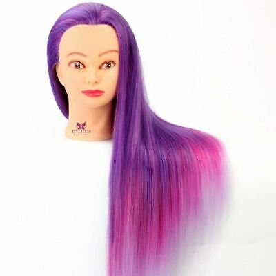 Neverland Synthetic Hair Training Mannequin Head With Clamp, combs, bands, pins