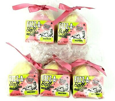 Soap And Glory Fizz A Ball Bath Bomb Sugar Crush Sweet Lime Zest 5 Pack 3.5oz