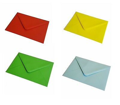 "50 Pack Coloured Envelopes C6 114x162 4x6"" Greeting Cards, Party & Crafts"