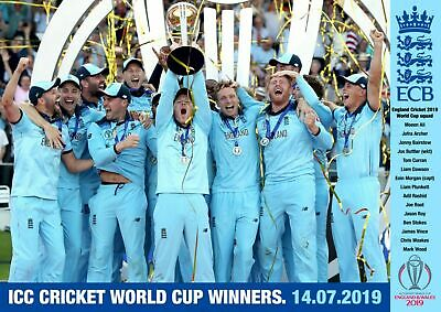 England Cricket World Cup Winners Poster A5..A4..A3..A2.. Options