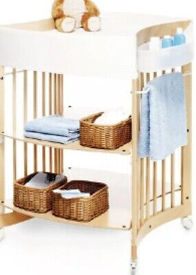 Awesome Stokke Care Baby Changing Table Natural Wood Plus Side Storage Bucket Download Free Architecture Designs Embacsunscenecom