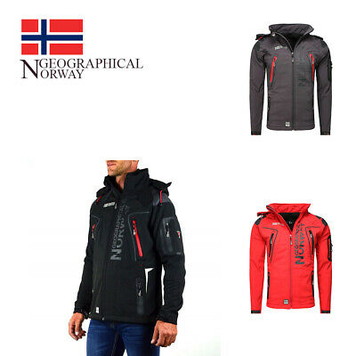 uk availability eaa11 230ef GIACCA GIUBBOTTO JACKET Uomo Geographical Norway Softshell Men con cappuccio