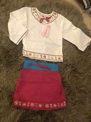 Beautiful Girls LITTLE ANGELS 100 Cotton Embroidered Top And Skirt Age 18-24 Mth