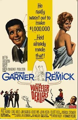 The Wheeler Dealers       1963    James Garner  Doris Day.  Comedy/Romance DVD