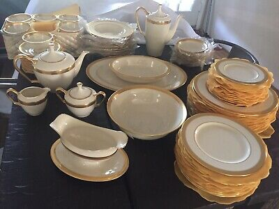 Lenox Lowell China 60 piece (5 piece placesetting) + serving dishes